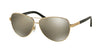 Ralph RA4116 Pilot Sunglasses  31335A-GOLD/BLACK 60-11-135 - Color Map gold
