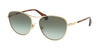 Ralph RA4126 Oval Sunglasses  91168E-LIGHT GOLD 57-16-140 - Color Map gold