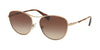 Ralph RA4126 Oval Sunglasses  933613-ROSE GOLD 57-16-140 - Color Map gold