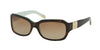 Ralph RA5049 Square Sunglasses  601/T5-LT TORT/TURQUOISE 54-16-130 - Color Map havana