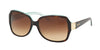 Ralph RA5138 Square Sunglasses  601/13-TORTOISE/TURQUOISE 58-16-135 - Color Map havana