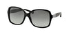 Ralph RA5165 Square Sunglasses  501/11-BLACK 57-16-135 - Color Map black