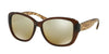 Ralph RA5182 Irregular Sunglasses  12635A-DARK BROWN 57-15-135 - Color Map brown