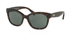 Ralph RA5218 Cat Eye Sunglasses  137871-DARK TORTOISE 55-17-135 - Color Map havana