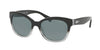 Ralph RA5218 Cat Eye Sunglasses  144887-BLACK GRADIENT/BLACK 55-17-135 - Color Map black