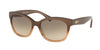 Ralph RA5218 Cat Eye Sunglasses  15816G-BROWN GRADIENT/BROWN 55-17-135 - Color Map brown