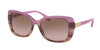 Ralph RA5223 Rectangle Sunglasses  162814-BERRY HORN GRADIENT/ BERRY HRN 57-16-140 - Color Map pink