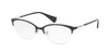 Ralph RA6044 Cat Eye Eyeglasses  131-TOP BLACK ON SILVER 53-17-140 - Color Map black