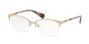 Ralph RA6044 Cat Eye Eyeglasses  273-LIGHT MATTE GOLD 53-17-140 - Color Map gold
