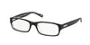 Ralph RA7018 Rectangle Eyeglasses  541-BLACK/TRANSPARENT 52-17-135 - Color Map black