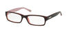 Ralph RA7018 Rectangle Eyeglasses  599-HAVANA/PINK 52-17-135 - Color Map havana