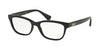 Ralph RA7097 Butterfly Eyeglasses  5001-BLACK 54-16-140 - Color Map black