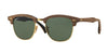 Ray-Ban CLUBMASTER WOOD RB3016M Square Sunglasses  118158-WALNUT RUBBER BLACK 51-21-145 - Color Map brown