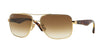 Ray-Ban RB3483 RB3483 Square Sunglasses  001/51-ARISTA 60-16-140 - Color Map gold