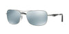 Ray-Ban RB3515 Square Sunglasses  004/Y4-GUNMETAL 61-17-145 - Color Map gunmetal