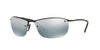 Ray-Ban RB3542 Rectangle Sunglasses  002/5L-SHINY BLACK 63-15-125 - Color Map black