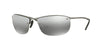Ray-Ban RB3542 Rectangle Sunglasses  029/5J-MATTE GUNMETAL 63-15-125 - Color Map gunmetal