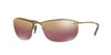Ray-Ban RB3542 Rectangle Sunglasses  197/6B-SHINY BROWN 63-15-125 - Color Map brown