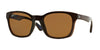Ray-Ban RB4197F Square Sunglasses  714/83-SHINY BROWN 56-20-145 - Color Map brown
