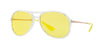 Ray-Ban ALEX RB4201 Pilot Sunglasses  6295C9-TRANSPARENT 59-15-145 - Color Map clear