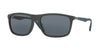 Ray-Ban RB4228F Rectangle Sunglasses  618587-SHINY GREY 58-18-140 - Color Map grey