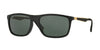 Ray-Ban RB4228F Rectangle Sunglasses  622771-SHINY BLACK 58-18-140 - Color Map black