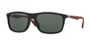 Ray-Ban RB4228F Rectangle Sunglasses  622871-MATTE BLACK 58-18-140 - Color Map black