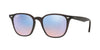 Ray-Ban RB4258 Irregular Sunglasses  62311N-SHINY OPAL BROWN 50-20-145 - Color Map brown