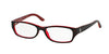 Ralph Lauren RL6058 Rectangle Eyeglasses  5255-TOP HAVANA / RED 51-16-135 - Color Map red