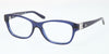 Ralph Lauren RL6113Q Cat Eye Eyeglasses  5033-DARK BLUE TRANSPARENT 52-17-140 - Color Map blue