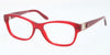 Ralph Lauren RL6113Q Cat Eye Eyeglasses  5458-OPAL RED 52-17-140 - Color Map red