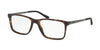 Ralph Lauren RL6133 Rectangle Eyeglasses  5616-DARK HAVANA 54-17-145 - Color Map havana
