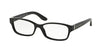 Ralph Lauren RL6139 Rectangle Eyeglasses  5001-BLACK 52-16-135 - Color Map black