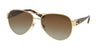 Ralph Lauren RL7047Q Pilot Sunglasses  9116T5-SHINY PALE GOLD 58-15-140 - Color Map gold