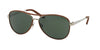 Ralph Lauren RL7050Q Pilot Sunglasses  929871-SHINY SILVER 60-13-140 - Color Map silver