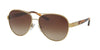 Ralph Lauren RL7054Q Pilot Sunglasses  911613-LIGHT GOLD 59-14-140 - Color Map gold