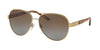Ralph Lauren RL7054Q Pilot Sunglasses  9116T5-LIGHT GOLD 59-14-140 - Color Map gold