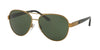 Ralph Lauren RL7054Q Pilot Sunglasses  932471-ANTIQUE BRASS 59-14-140 - Color Map bronze/copper