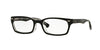 Ray-Ban Optical RX5150F Rectangle Eyeglasses  2034-TOP BLACK ON TRANSPARENT 52-19-135 - Color Map black