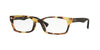 Ray-Ban Optical RX5150F Rectangle Eyeglasses  5608-YELLOW HAVANA 52-19-135 - Color Map havana