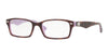 Ray-Ban Optical RX5206 Rectangle Eyeglasses  5240-TOP HAVANA ON OPAL VIOLET 54-18-145 - Color Map havana