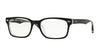 Ray-Ban Optical RX5286F Square Eyeglasses  2034-TOP BLACK ON TRANSPARENT 53-18-140 - Color Map black