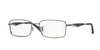 Ray-Ban Optical RX6284 Rectangle Eyeglasses  2502-GUNMETAL 55-17-140 - Color Map gunmetal