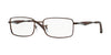 Ray-Ban Optical RX6284 Rectangle Eyeglasses  2758-DARK MATTE BROWN 55-17-140 - Color Map brown