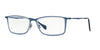 Ray-Ban Optical RX6299 Rectangle Eyeglasses  2755-DEMIGLOSS BLUE 55-17-145 - Color Map blue