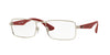 Ray-Ban Optical RX6332 Rectangle Eyeglasses  2538-MATTE SILVER 53-18-140 - Color Map silver