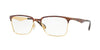 Ray-Ban Optical RX6344 Square Eyeglasses  2917-GOLD/HAVANA 56-17-145 - Color Map havana