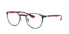 Ray-Ban Optical RX6355 Phantos Eyeglasses  2997-SILVER ON TOP MATTE BLACK 50-20-145 - Color Map black