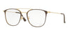 Ray-Ban Optical RX6377F Square Eyeglasses  2905-GOLD/SHINY BROWN 52-21-145 - Color Map brown