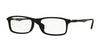 Ray-Ban Optical RX7017F Rectangle Eyeglasses  2477-MATTE BLACK 54-17-145 - Color Map black